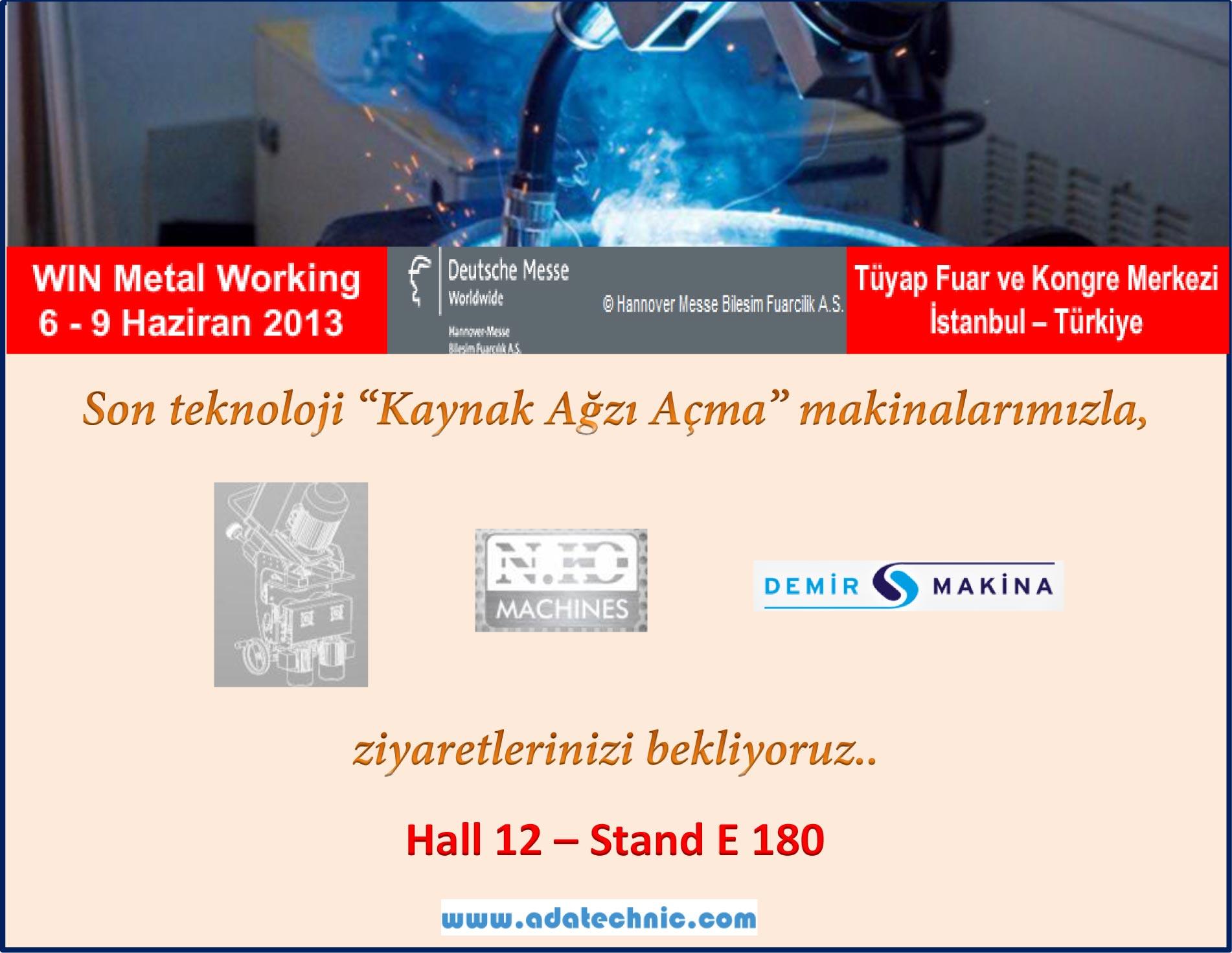 WIN Metal Working Fair Istanbul